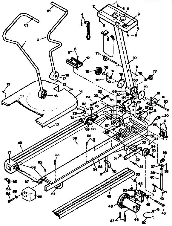 Proform Model 831297304 Treadmill Genuine Parts