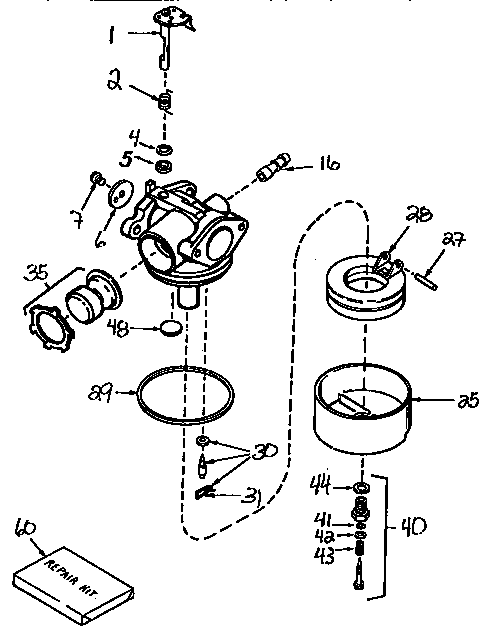 Craftsman 536632589 carburetor diagram