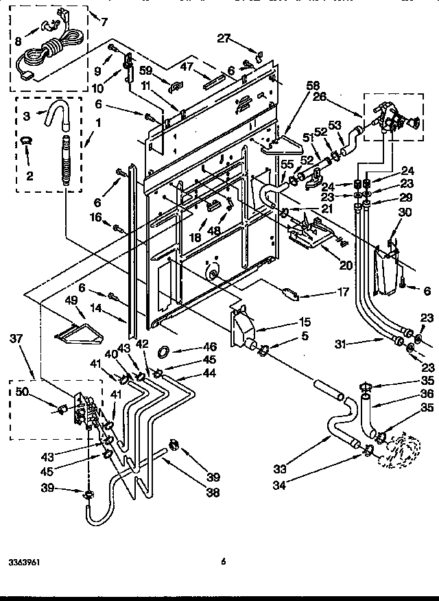 Kenmore 11092593410 rear panel diagram
