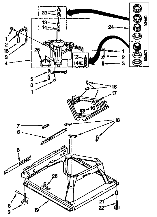 Kenmore 11092593410 machine base diagram