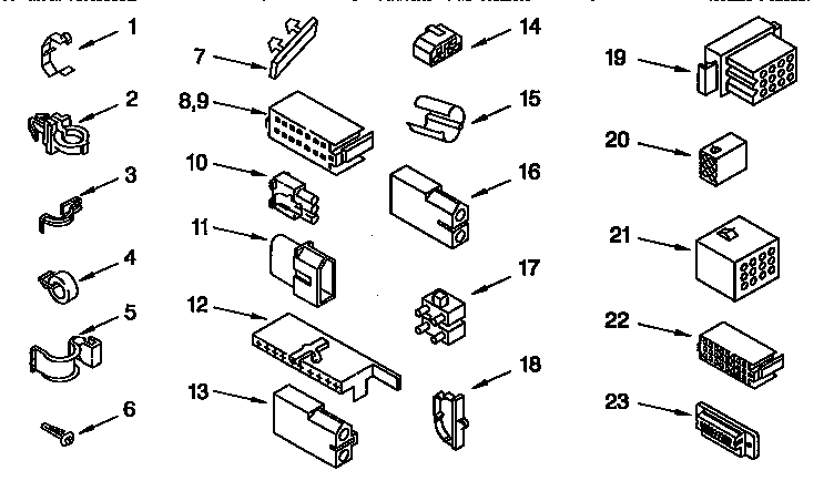 Kenmore 11092593410 wiring harness diagram