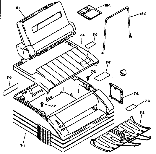Brother HL-641 main cabinet parts diagram