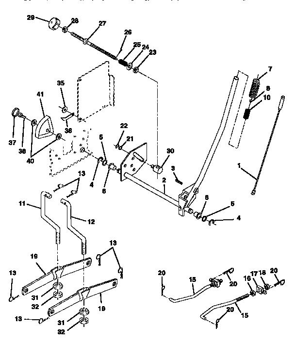 Craftsman  Tractor  Mower lift