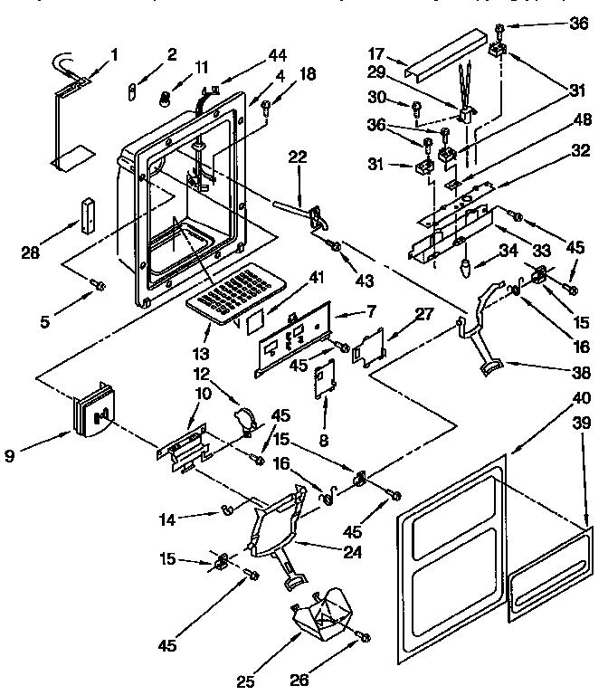 Kenmore  Side By Side Refrigerator  Dispenser front