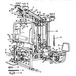 Gold's Gym G4394 informal components diagram