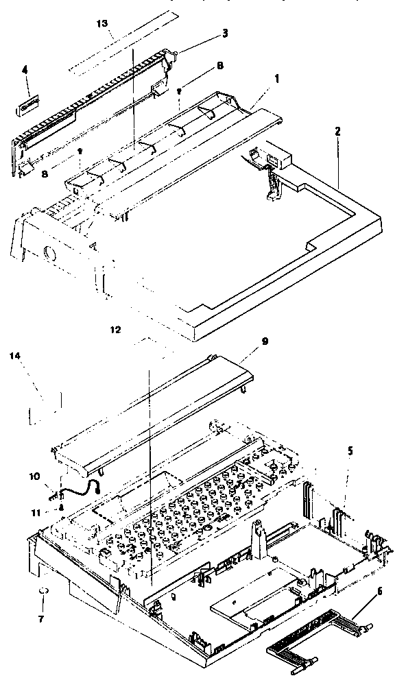 Brother LW-400 cover diagram