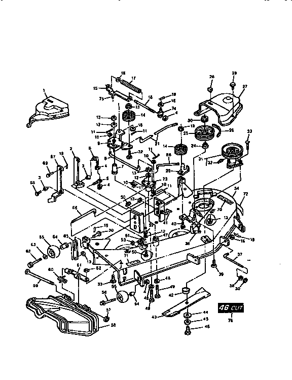 60 tractor wiring diagram also john deere with John Deere 111 Mower Deck Parts Diagrams on 161699426259 likewise Manuals2 also John Deere 272 Grooming Mower Belt Diagram as well Kubota B7510 Parts Diagram together with John Deere 42 Mower Deck Belt Diagram.