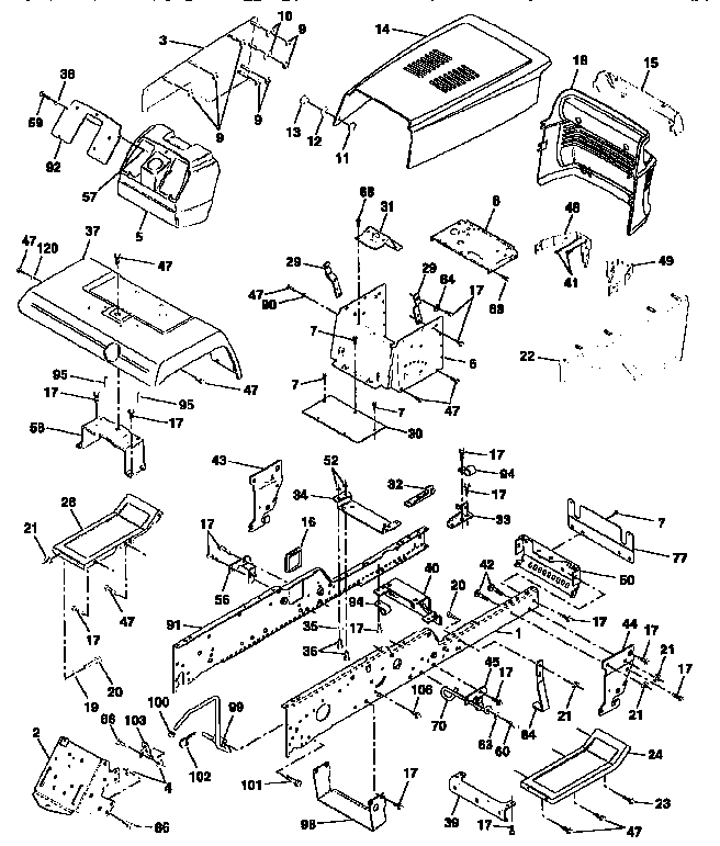 Craftsman 917251561 chassis and enclosures diagram