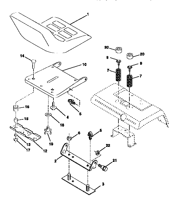 Craftsman 917251561 seat assembly diagram
