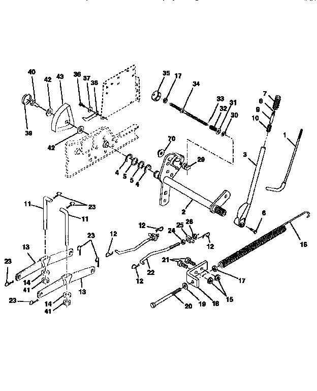 Craftsman 917251561 lift assembly diagram