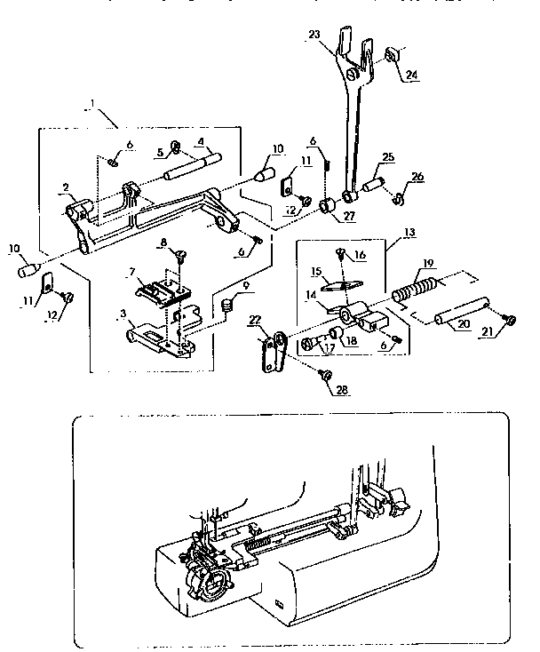 Kenmore  Sewing Machine  Feed assembly