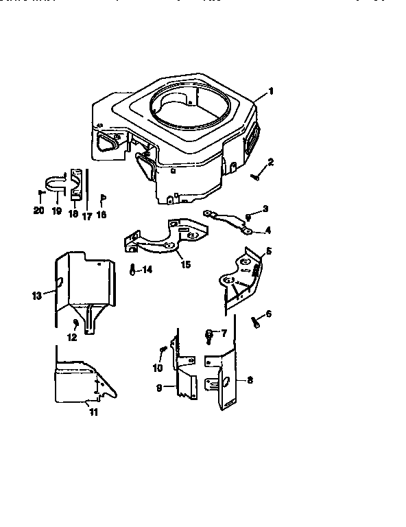 Craftsman 917251561 blower housing and baffles diagram