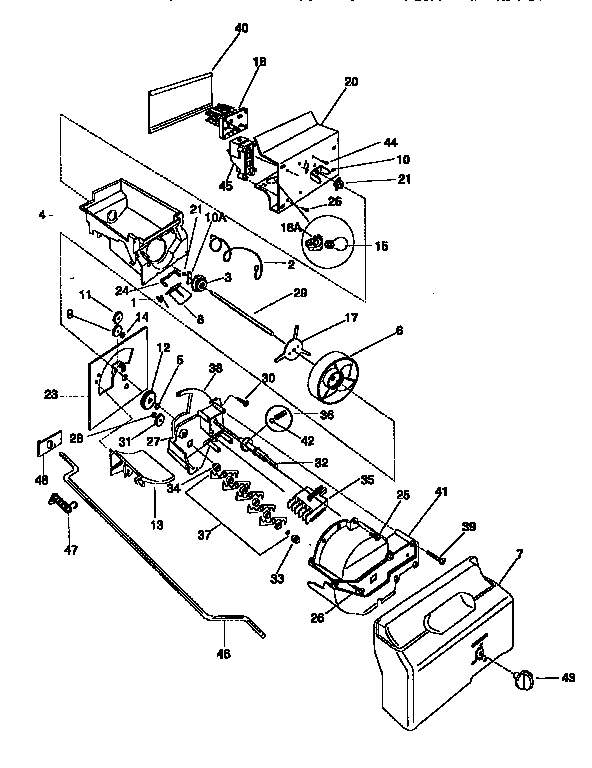 Frigidaire FRS26ZGED2 container/drive diagram