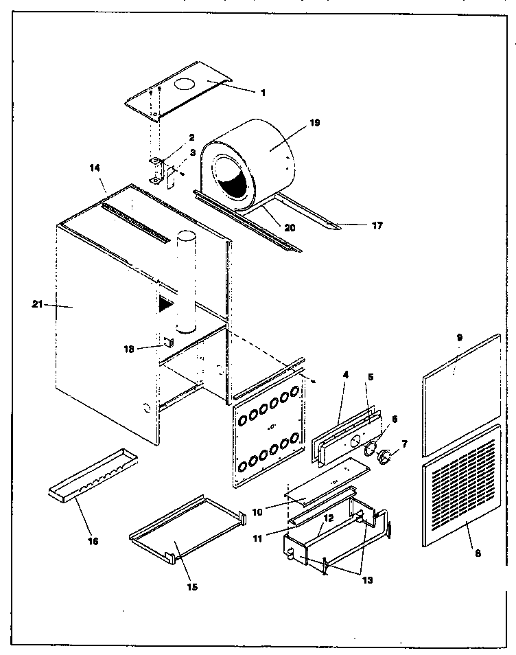 ICP NDN5100BFA1 non-functional replacement diagram
