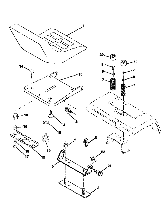 Western Auto AYP8228A79 seat assembly diagram
