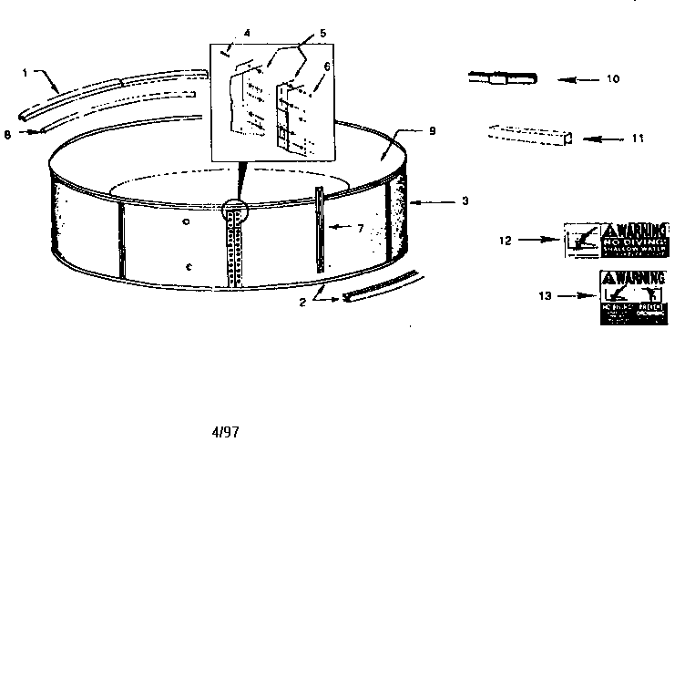 Muskin QS119 replacement parts diagram