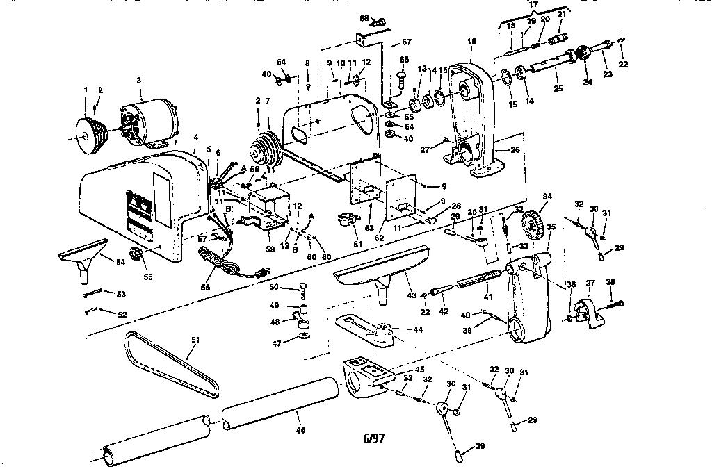 Craftsman Model 113228165 Lathe Genuine Parts