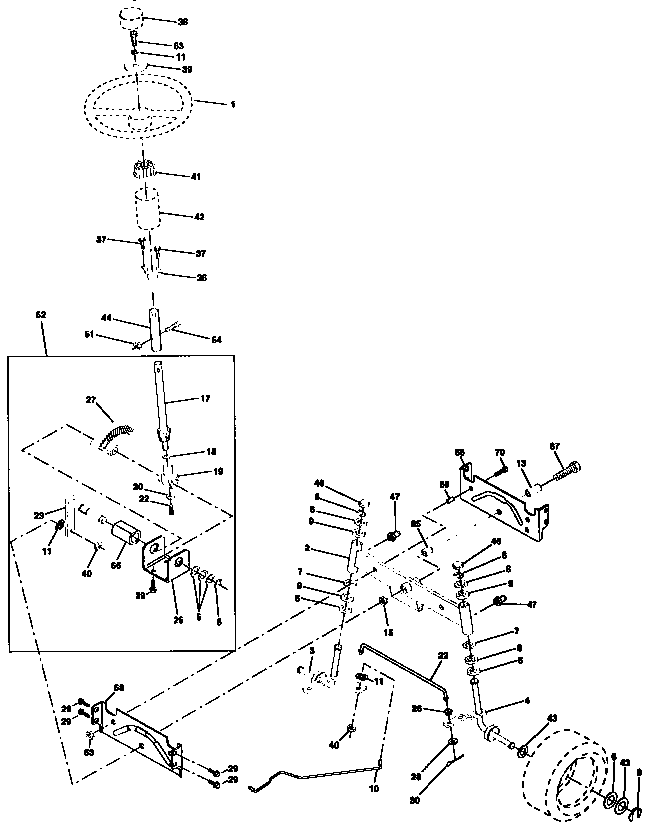 Craftsman  Tractor  Steering assembly