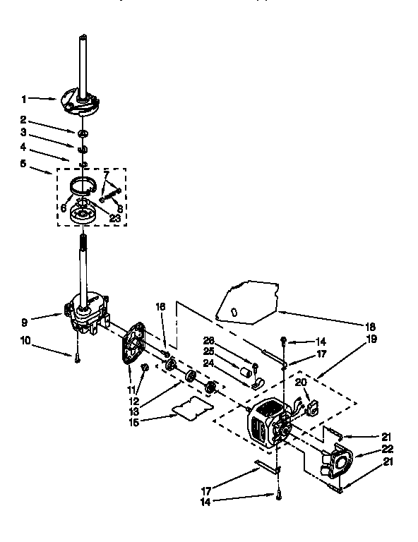 Kenmore 11016872693 motor and pump diagram