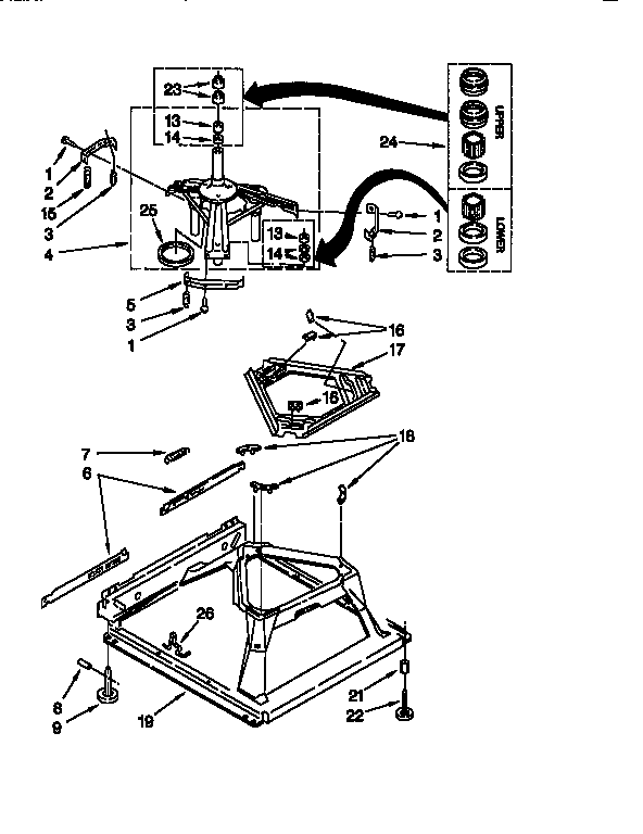 Kenmore 11016872693 machine base diagram