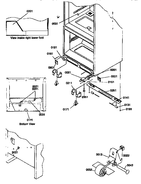 Kenmore 59667272790 insulation and roller assembly diagram