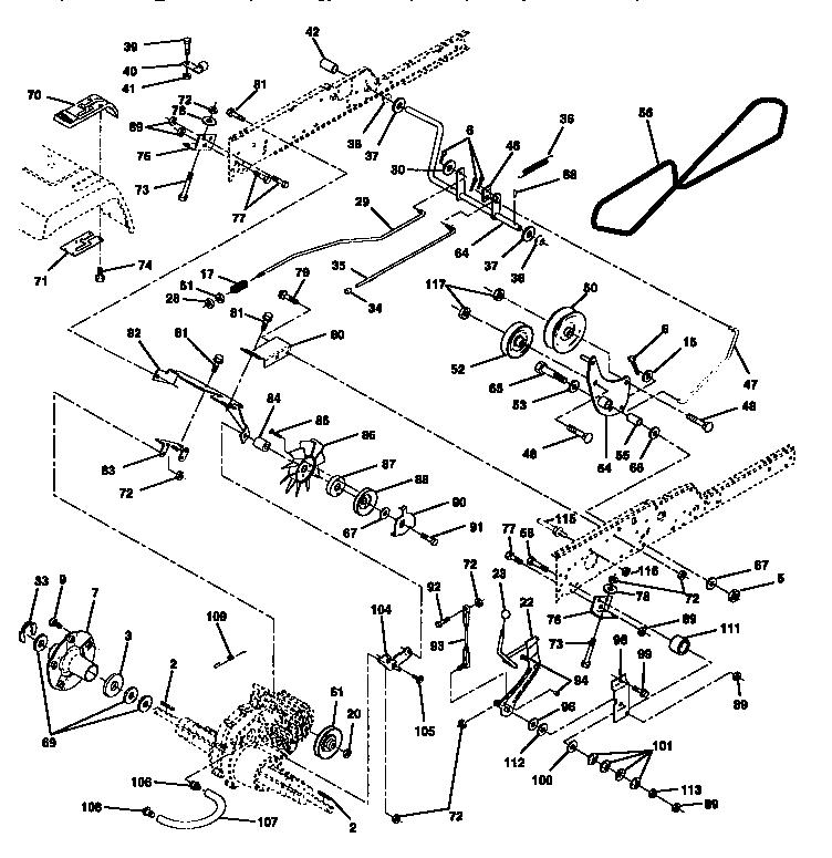 Craftsman Model 917258973 Lawn Tractor Genuine Parts