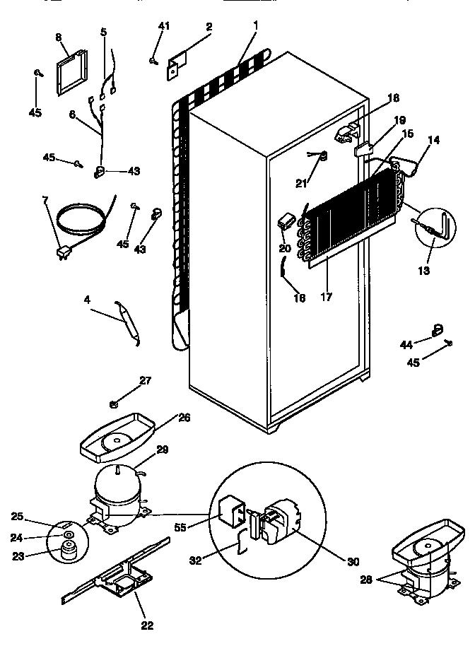 Kenmore  Top Mount Refrigerator  Unit parts