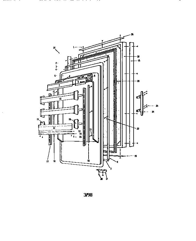 Sub-Zero  Refrigerator  201 r doors