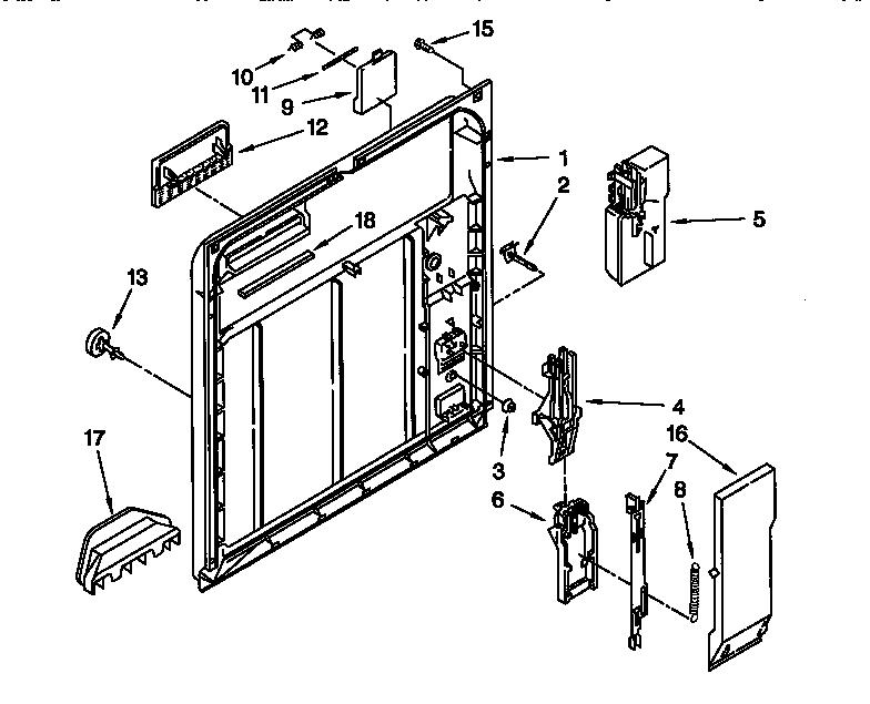 Inner Door Diagram  U0026 Parts List For Model 66517765890