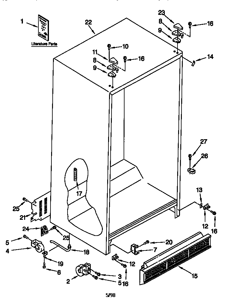 on Kenmore Ice Maker Parts Diagram