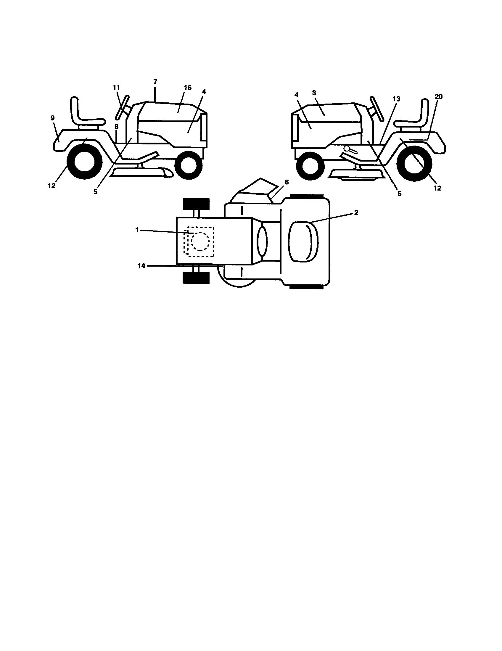 Ariens  Tractor  Decals