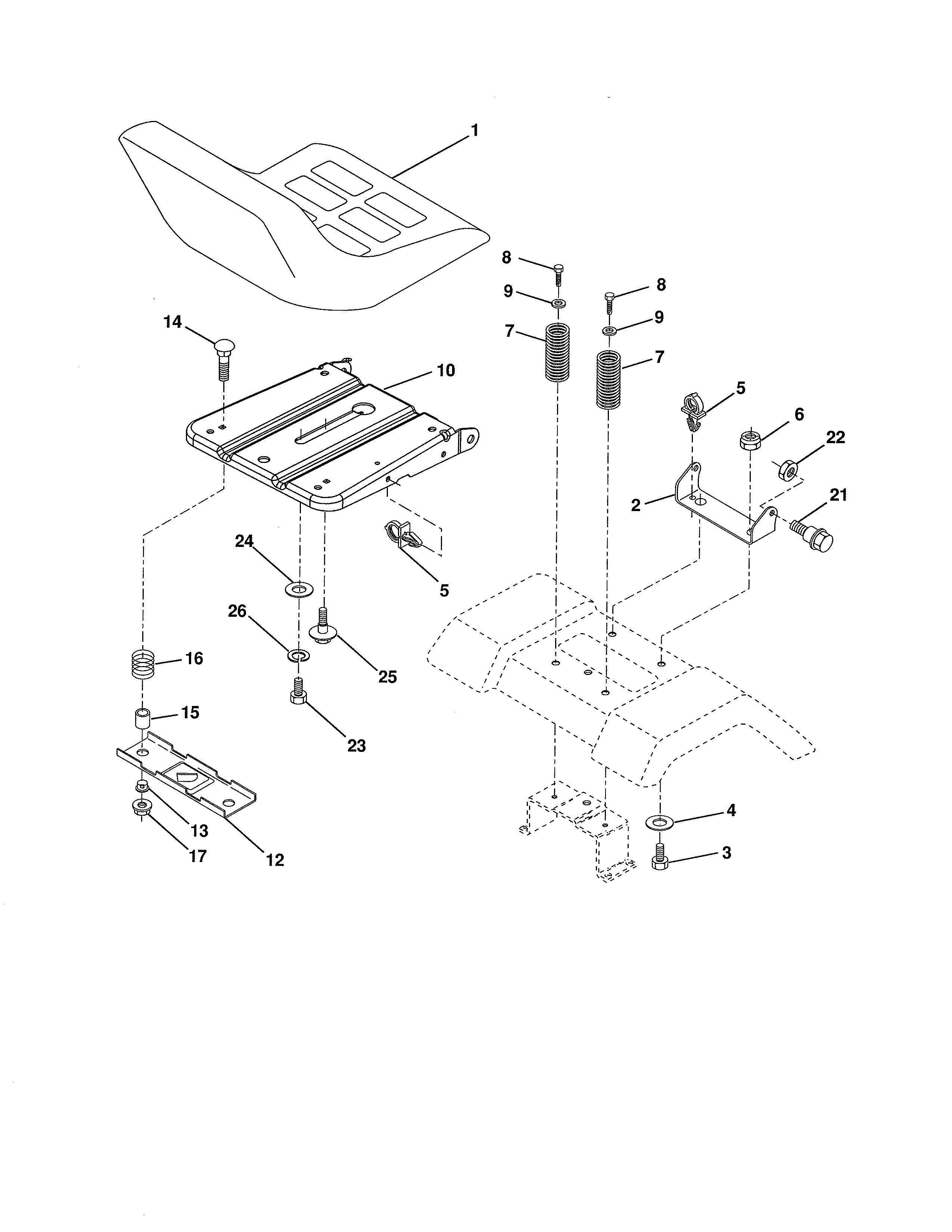 Poulan  Tractor  Seat