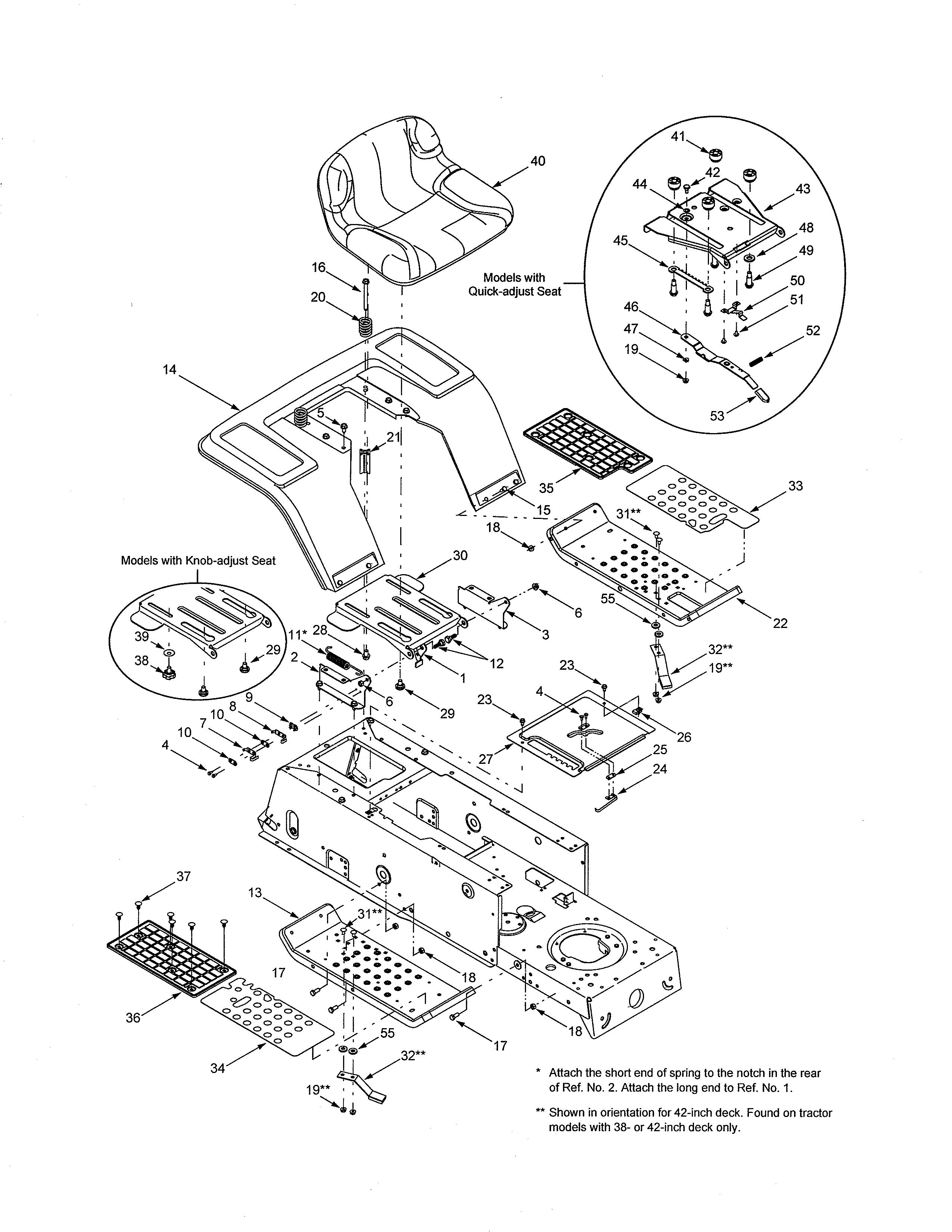 mtd 13af688g722 seat & fender diagram