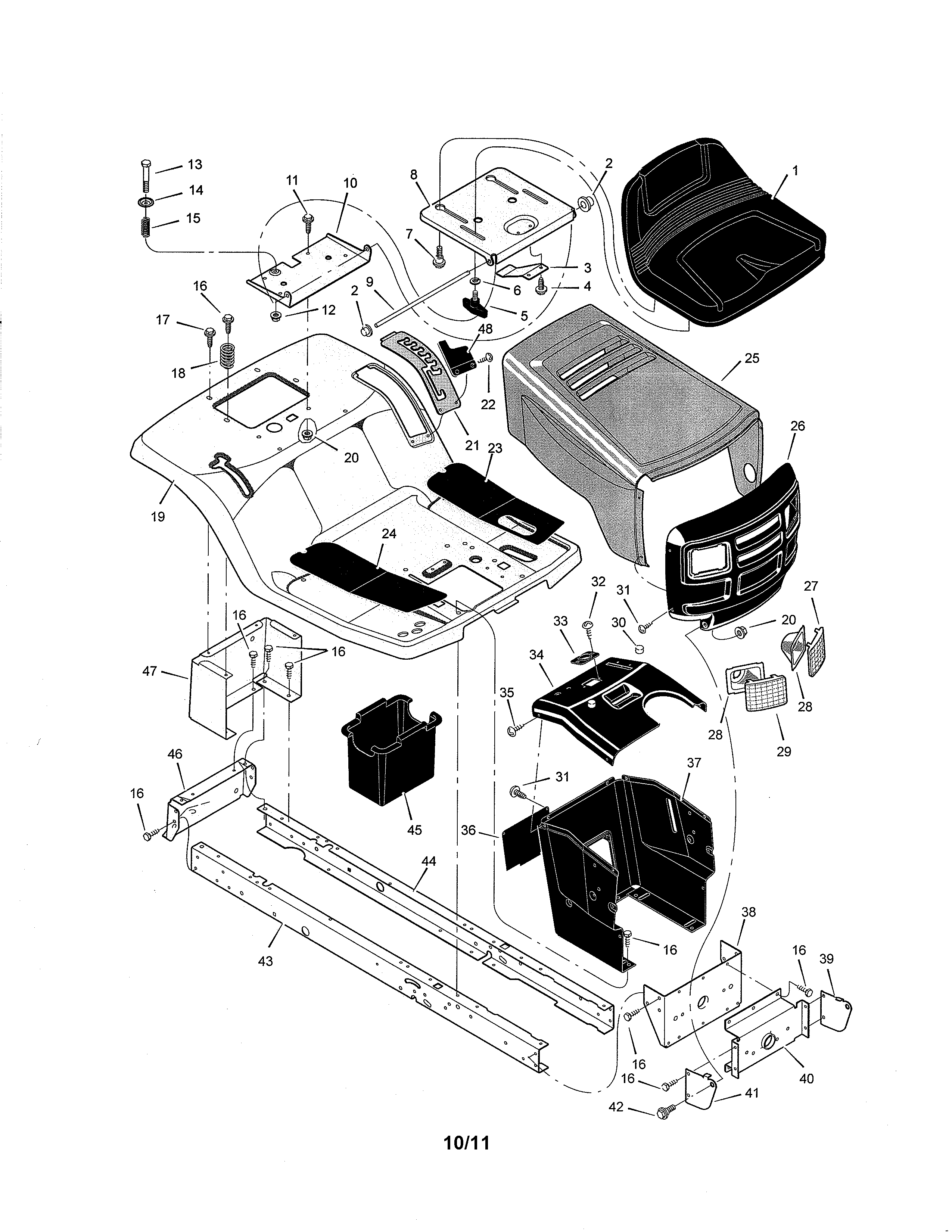 looking for murray model 425003x8a front engine lawn tractor repair Murray Rider Wiring-Diagram