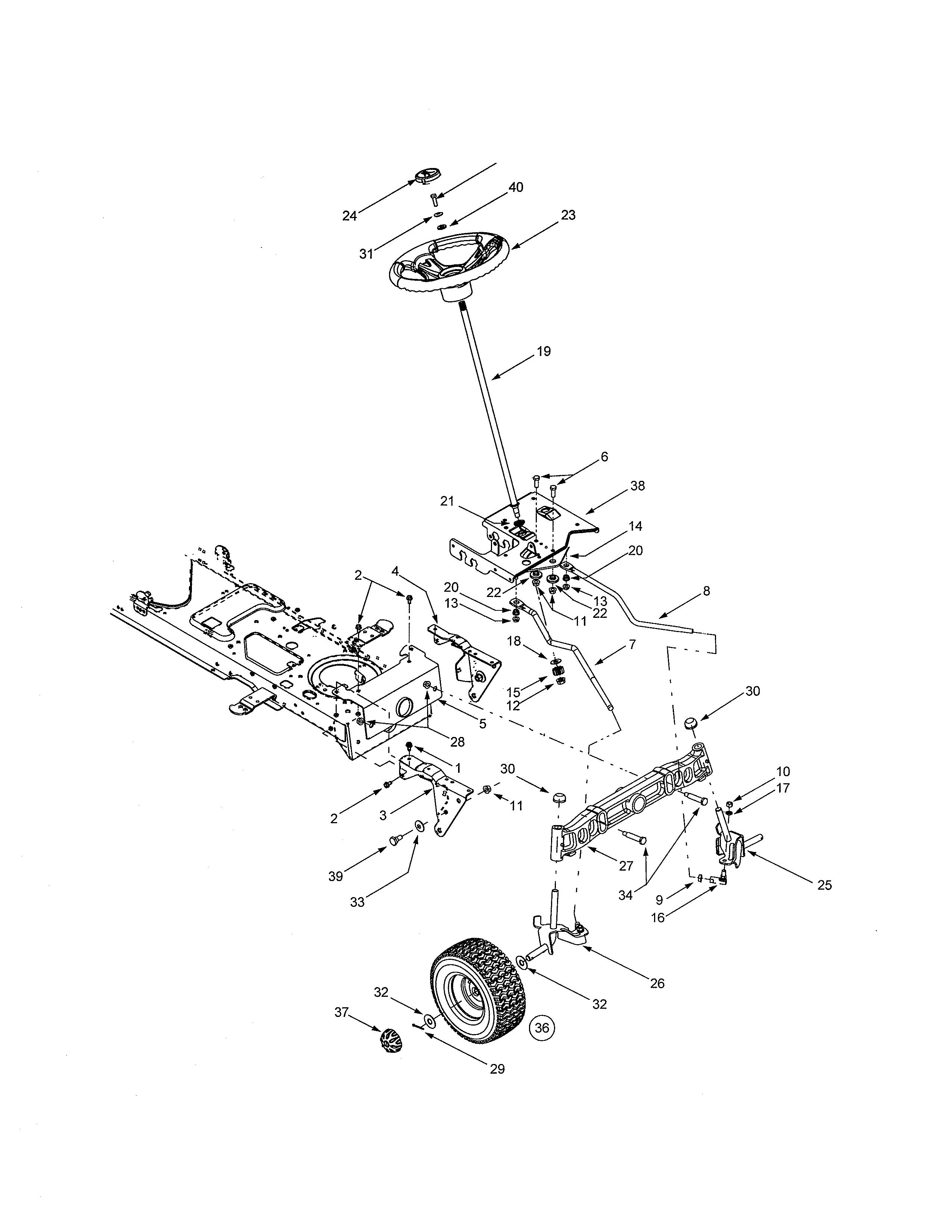 Yard-Man  Tractor  Steering