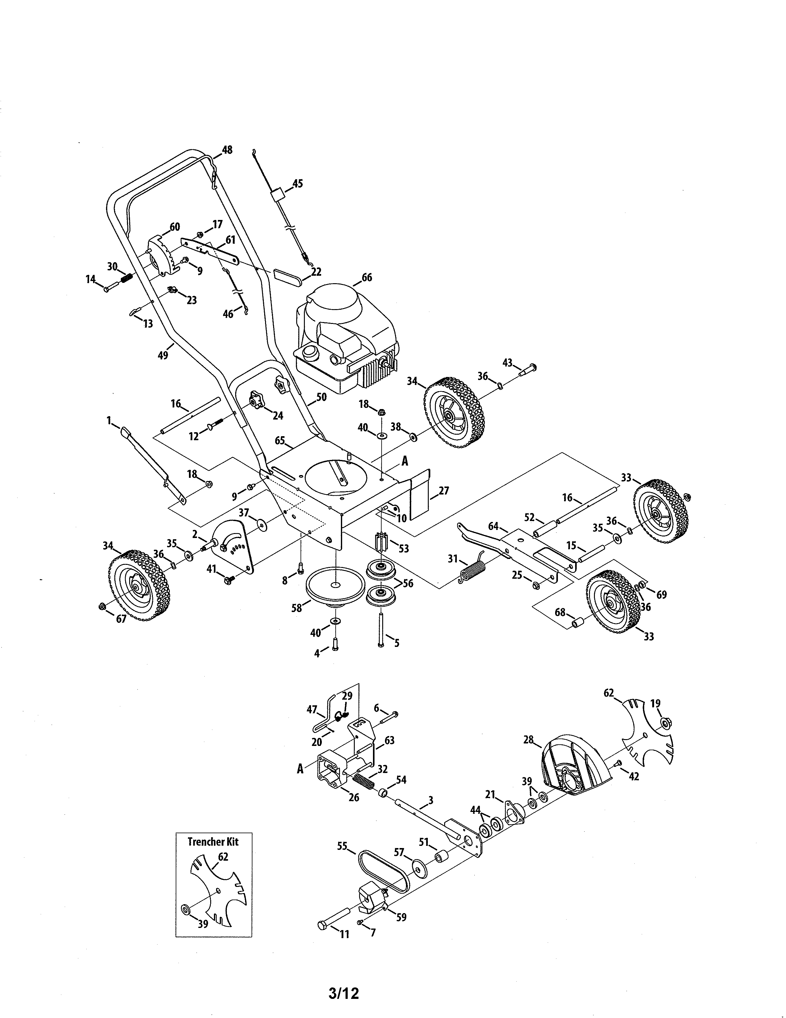 Mtd  Edger/Trencher  Lawn mower