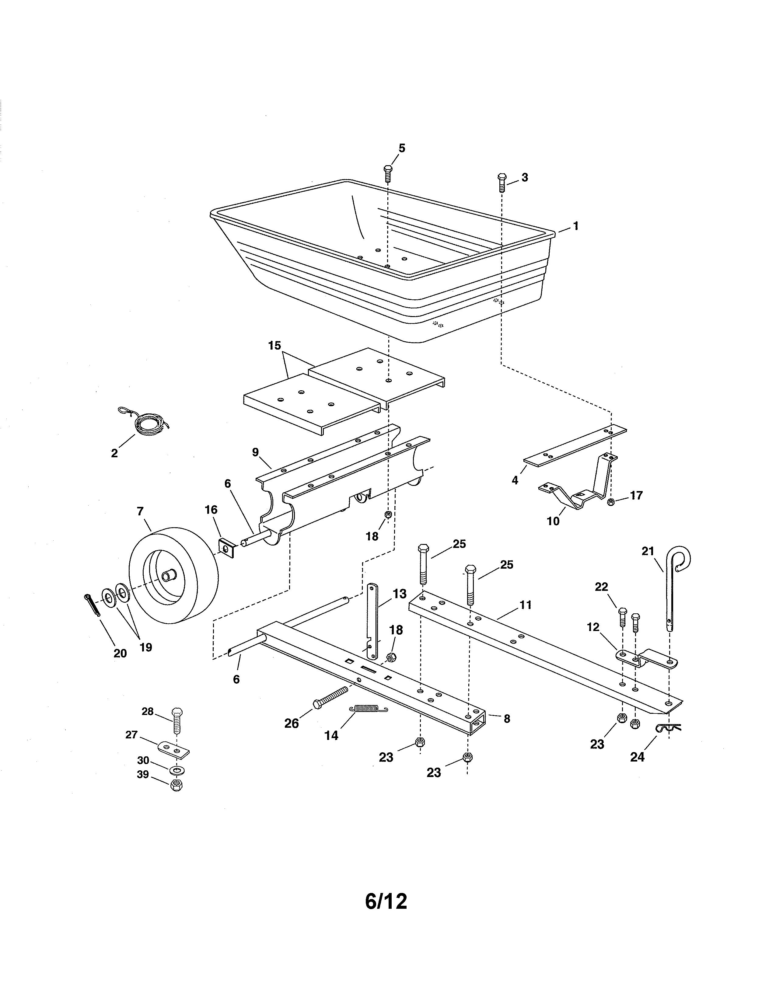 Craftsman  Yard Vac  Cart/wheel