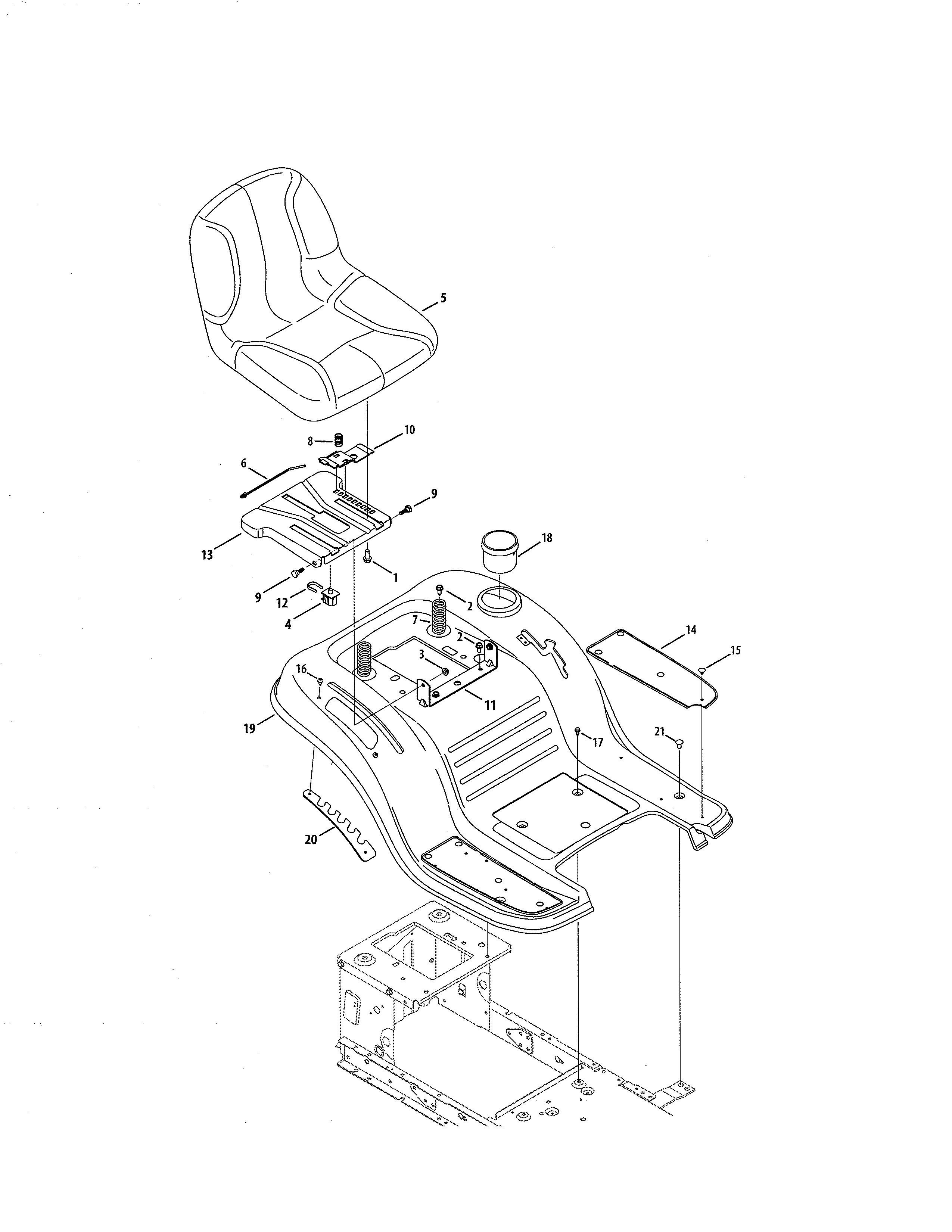 Craftsman Model 247289150 Lawn Tractor Genuine Parts 22 Hp Kohler Charging Wiring Diagram Schematic Seat Fender