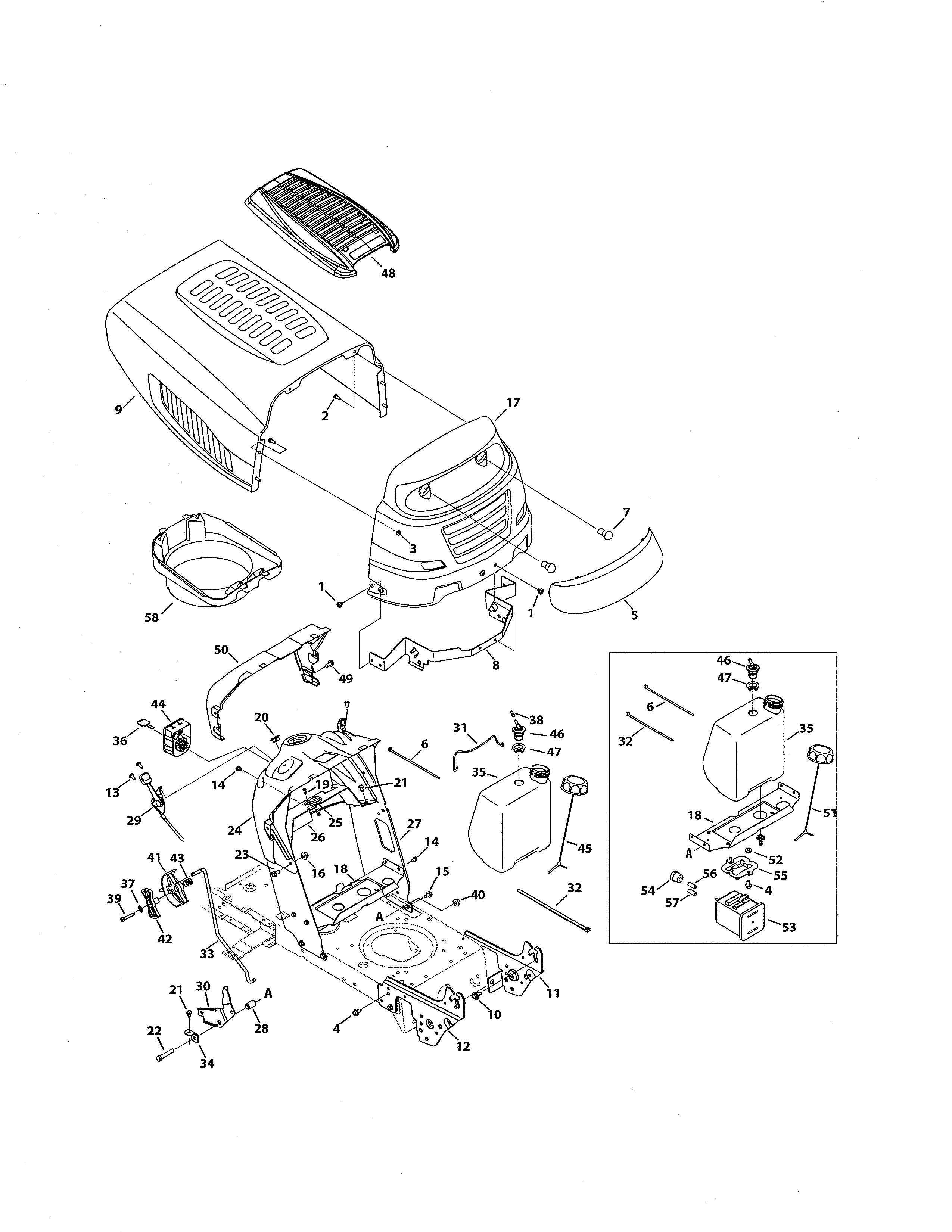 Looking for MTD model 13AO772S055 front-engine lawn