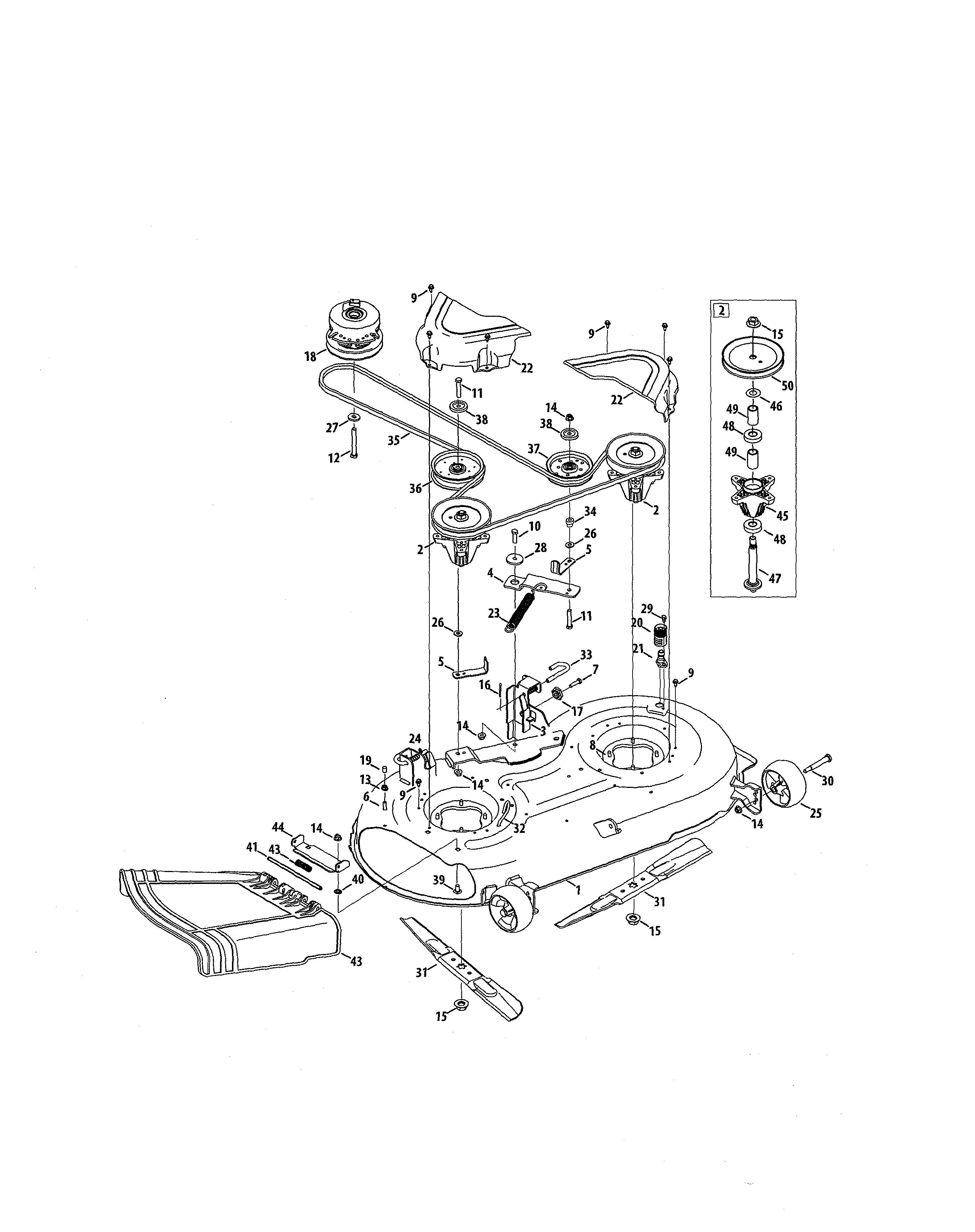 Craftsman  Zero Turn Riding Mower  Deck/spindle