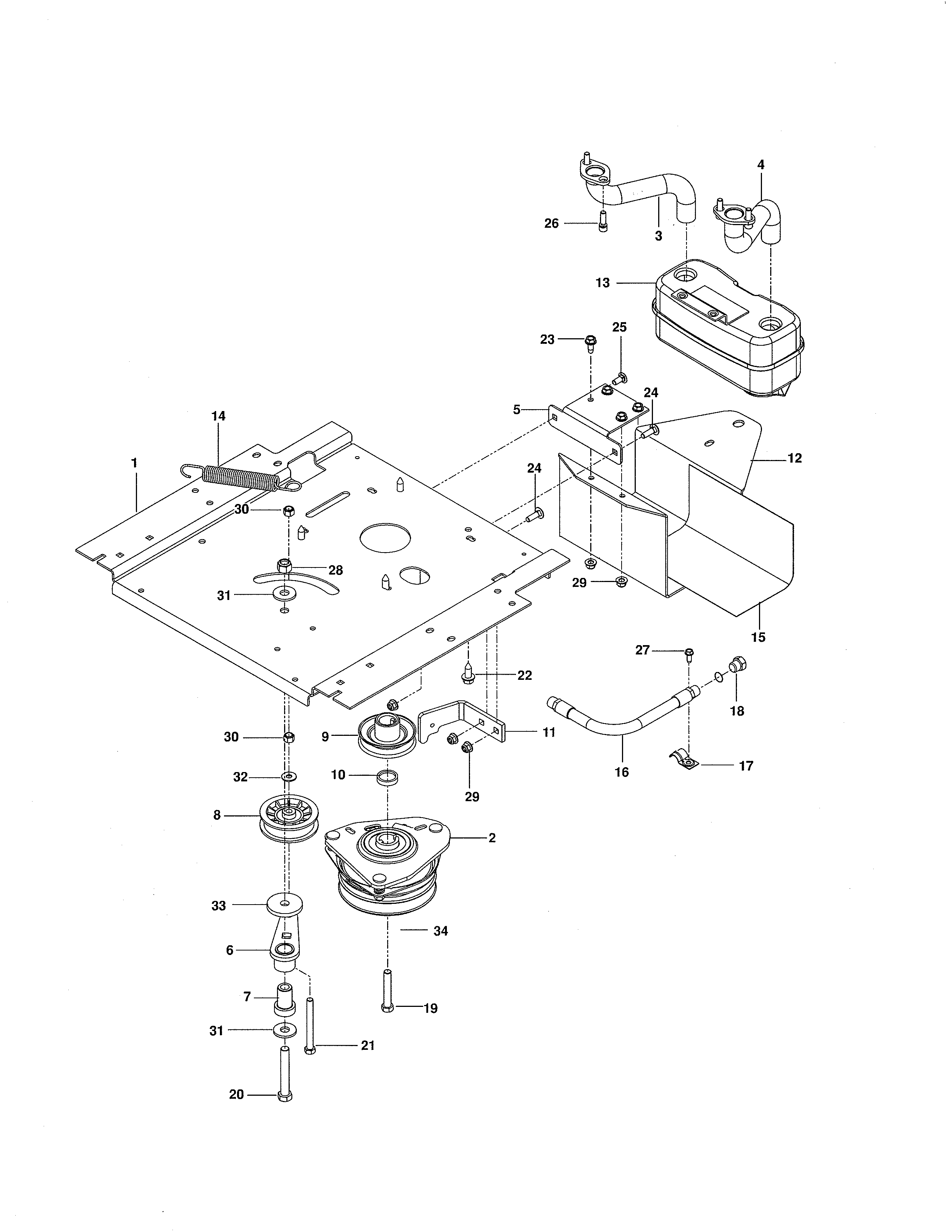 Craftsman  Zero-Turn Riding Mower  Engine plate
