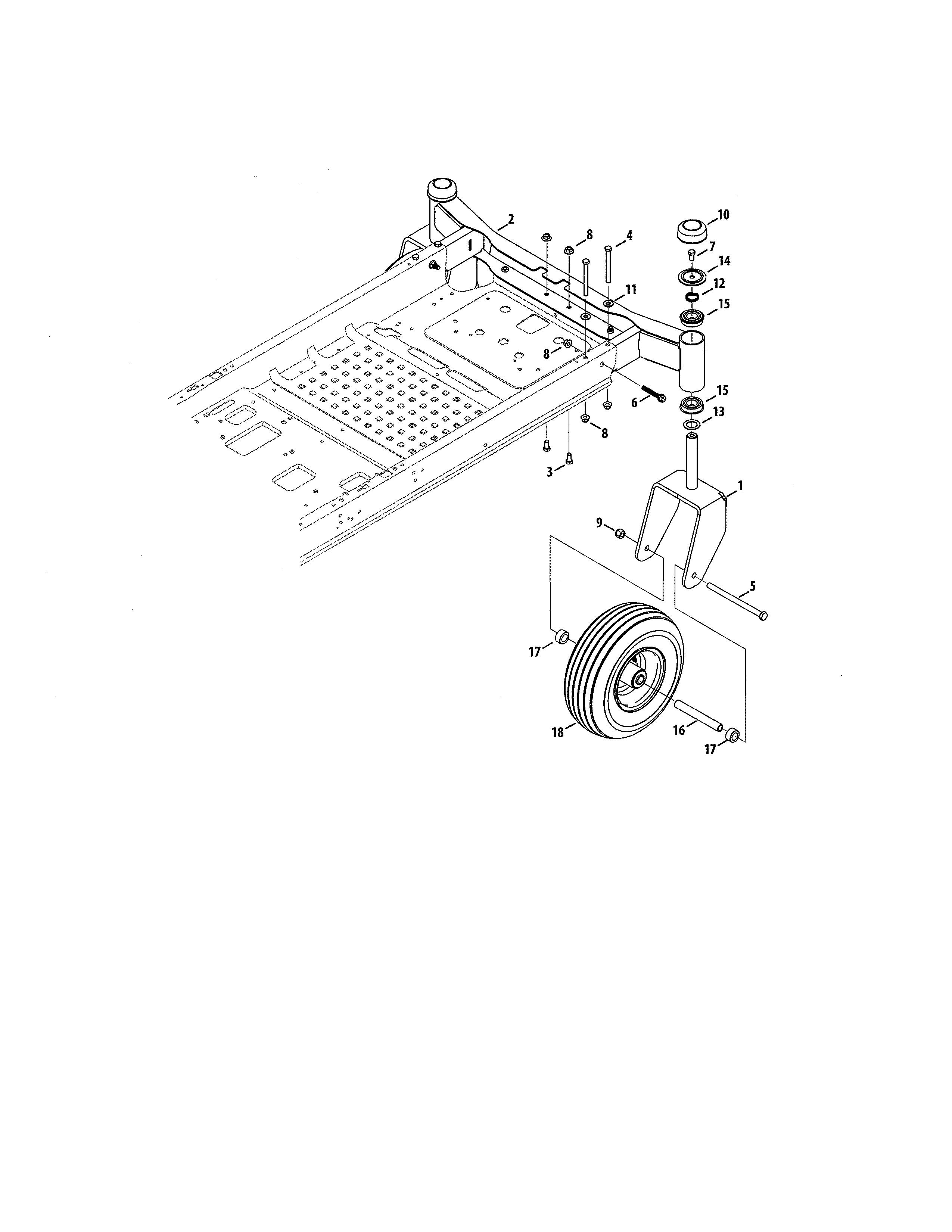 Craftsman  Zero Turn Riding Mower  Wheel assembly