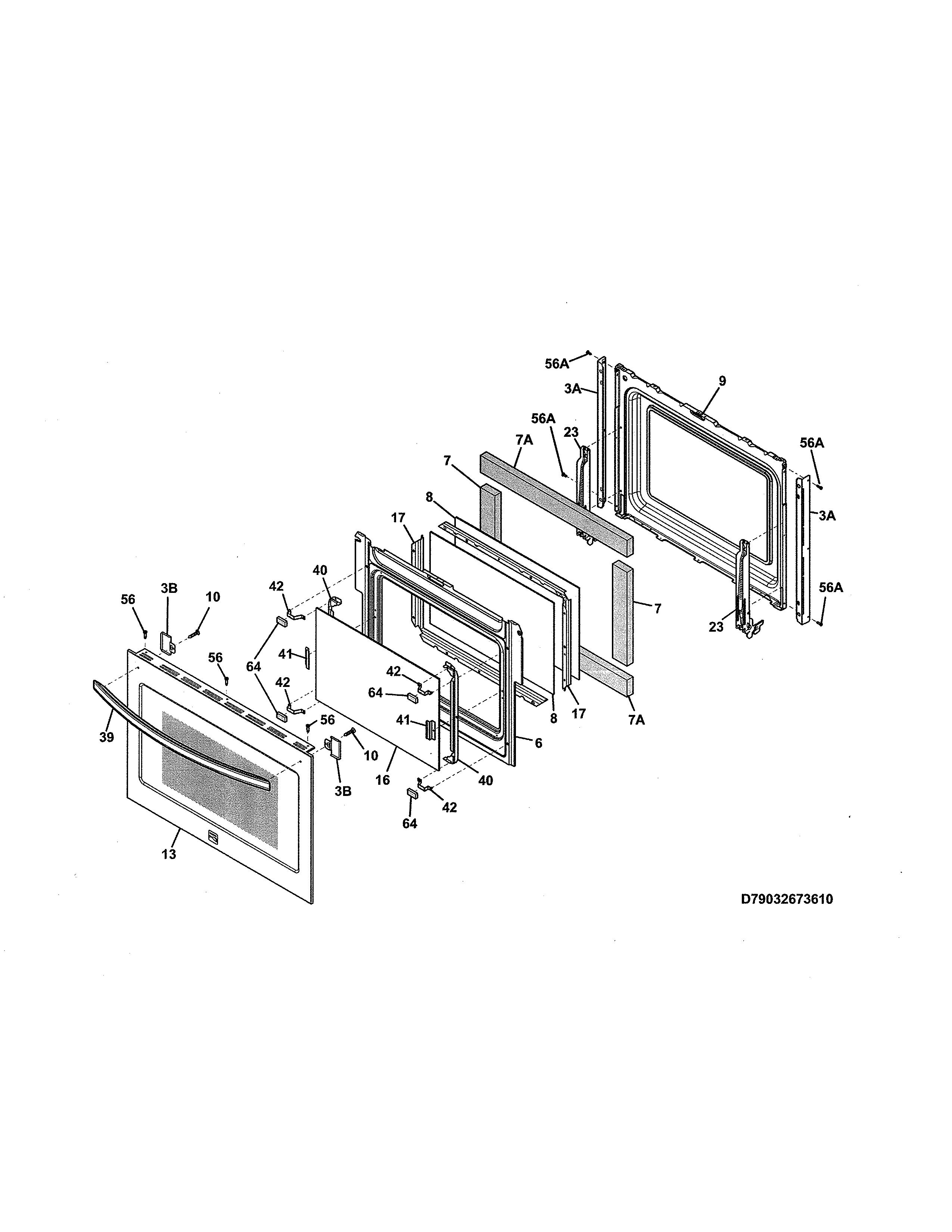 Kenmore  Gas Range  Door