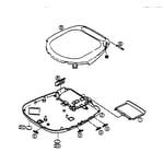 Panasonic SL-S295 cabinet parts diagram