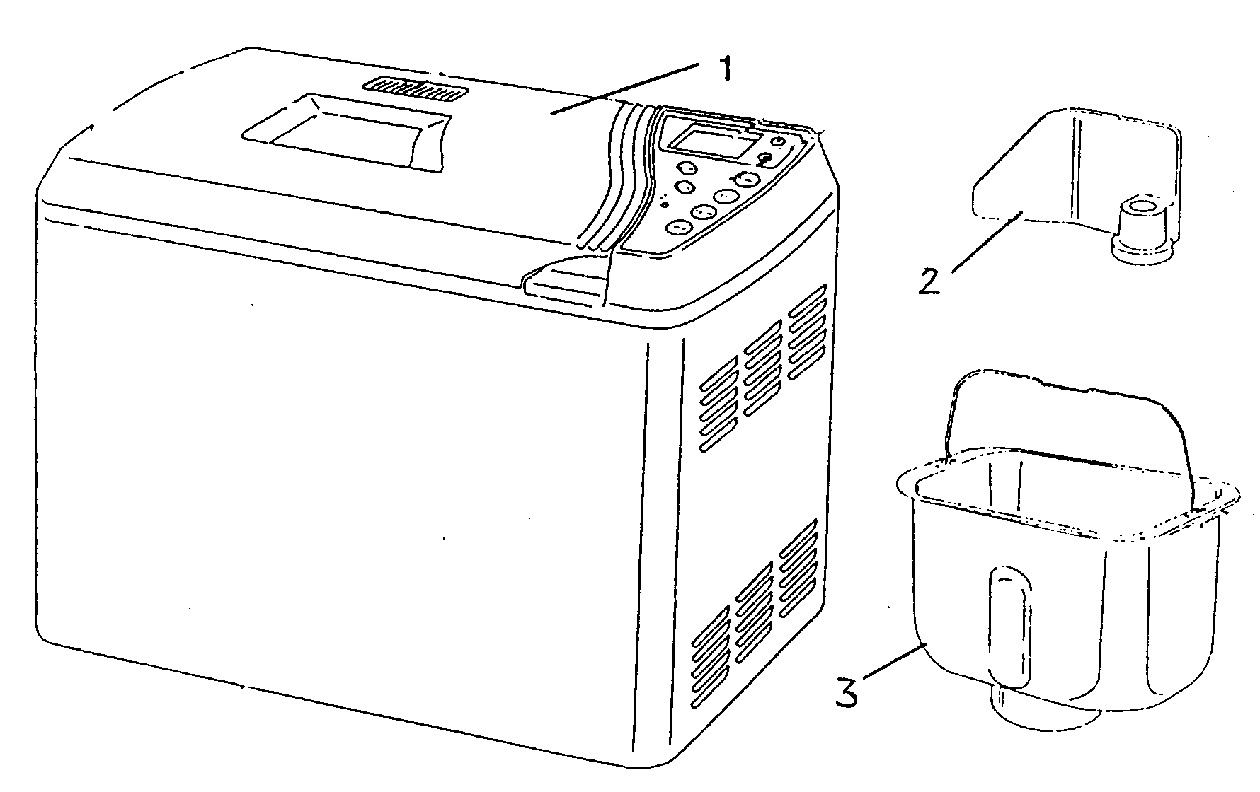 Salton KTR2205 cabinet parts diagram