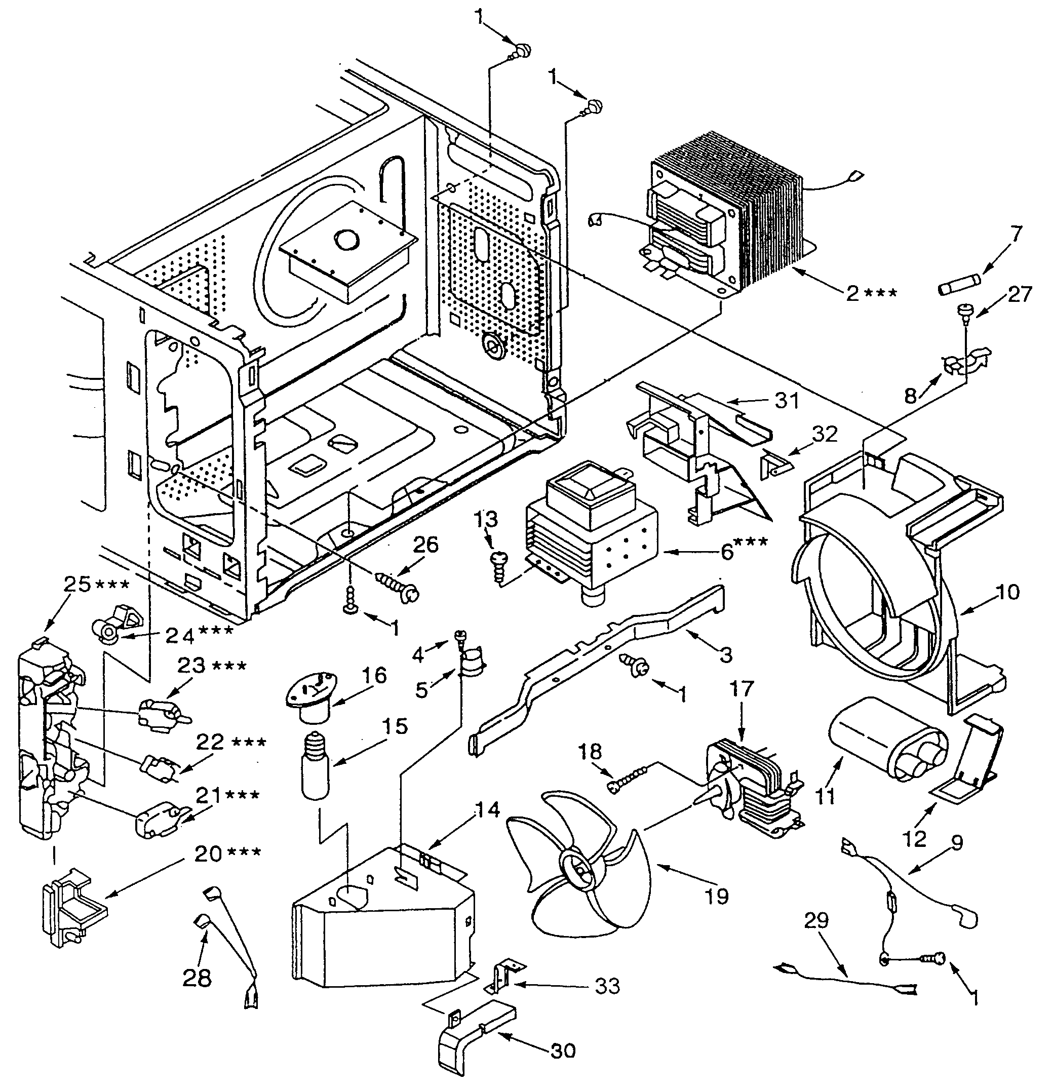 Kenmore 56561582010 switchs/microwave parts diagram