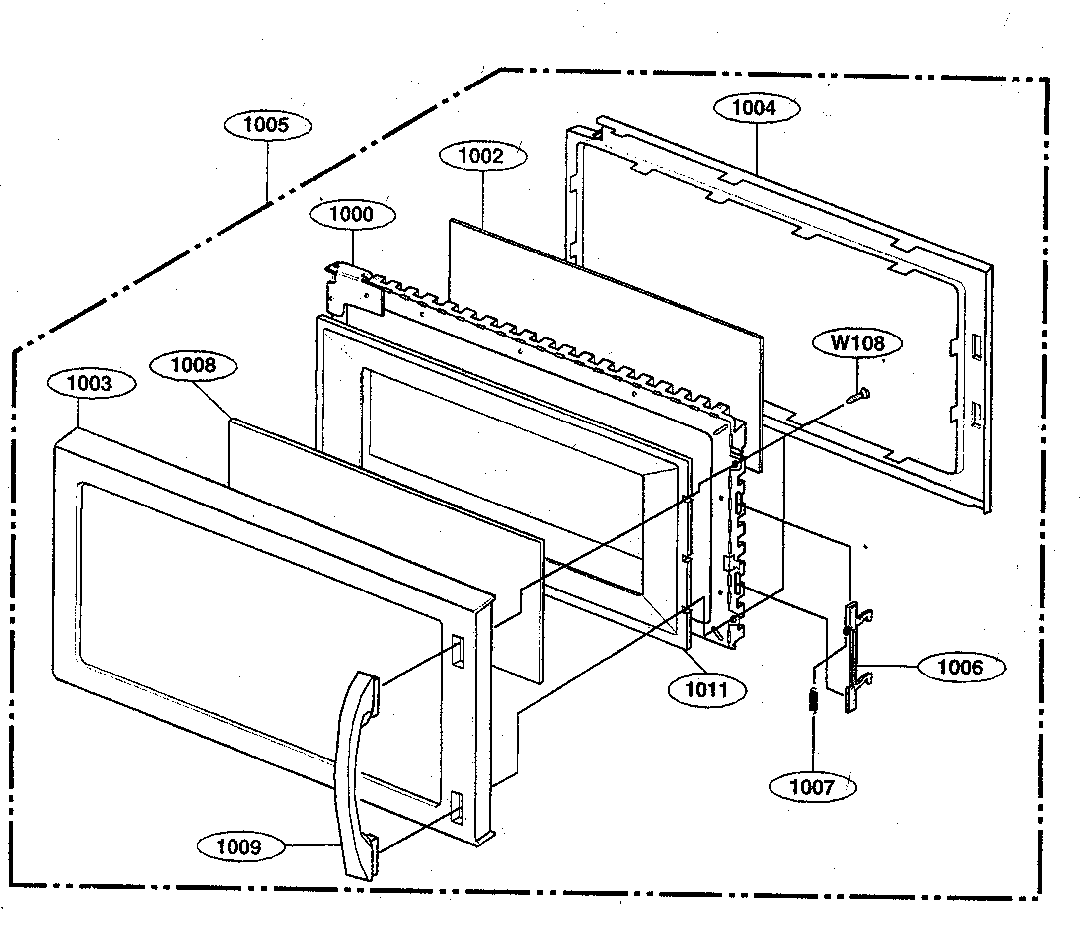 Kenmore 72162649200 door diagram