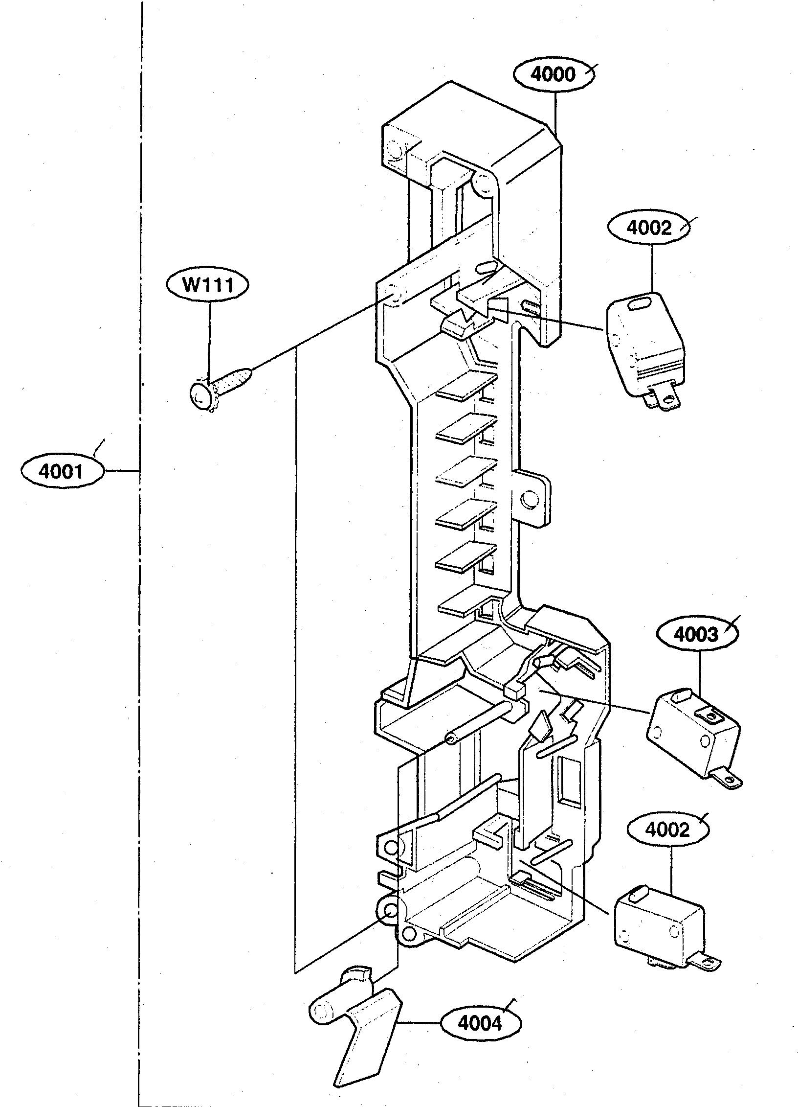 Kenmore 72162649200 latch board diagram