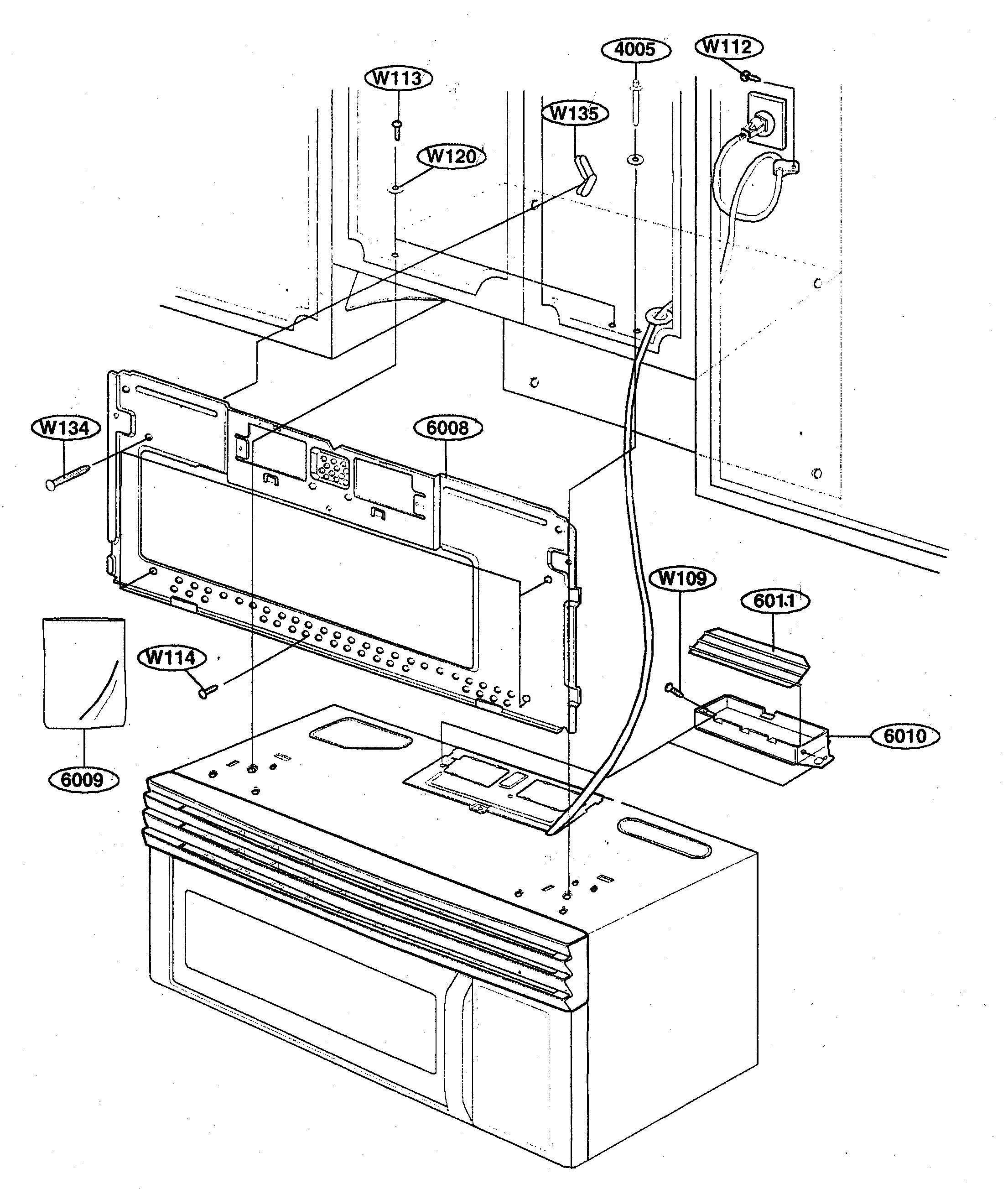 Kenmore 72162649200 installation diagram