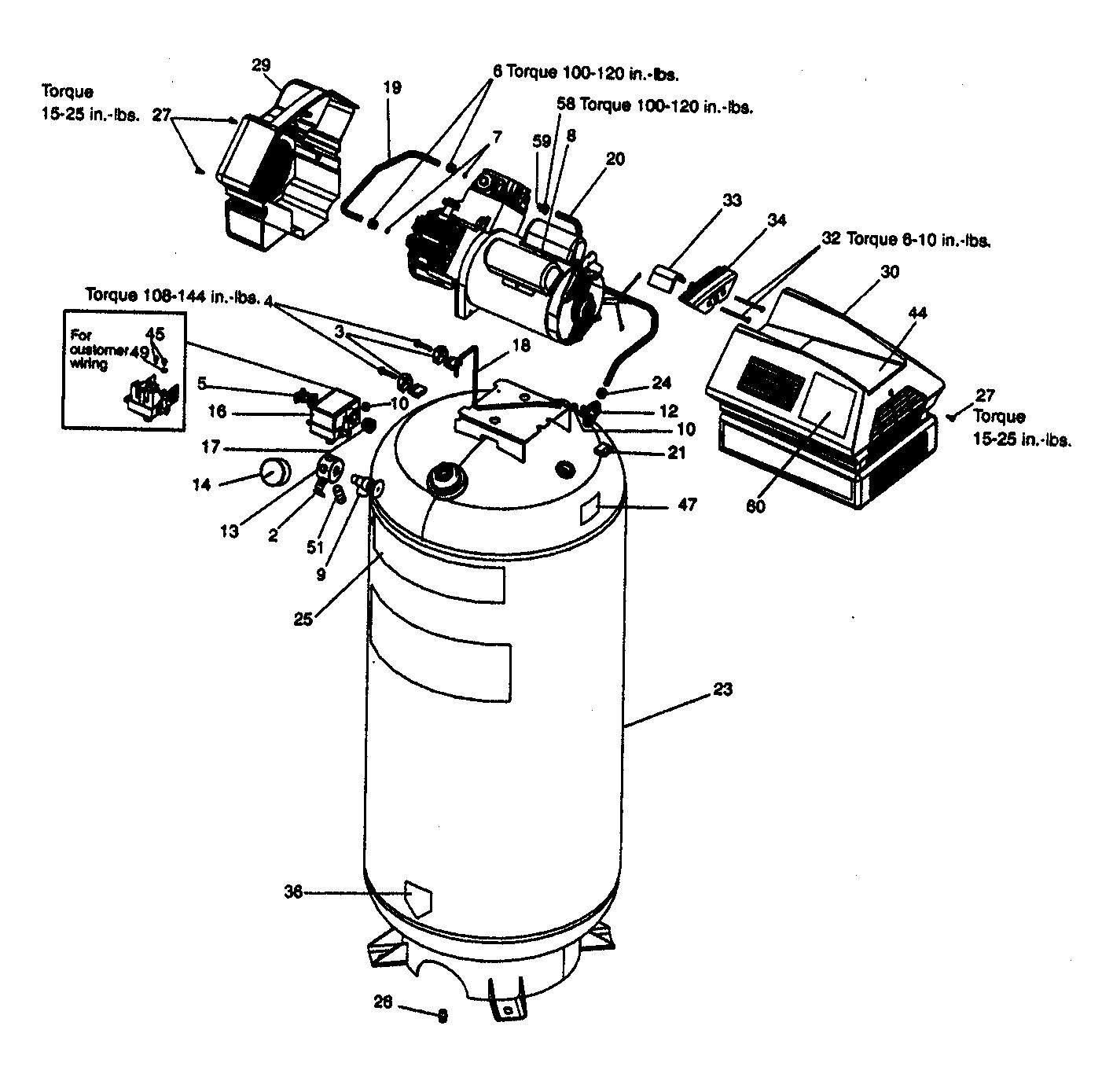 Craftsman Model 919165612 Air Compressor Genuine Parts